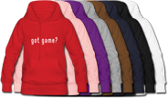 Basketball hooded sweatshirts for women